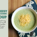 Cheesy Zucchini Soup is a quick and easy dish to make and uses all that zucchini from your garden. A healthy, tasty soup!