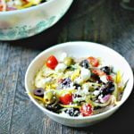 This Greek Zucchini Salad is the perfect substitute for a pasta salad when you are on a Paleo or low carb diet. Delicious and nutritious!
