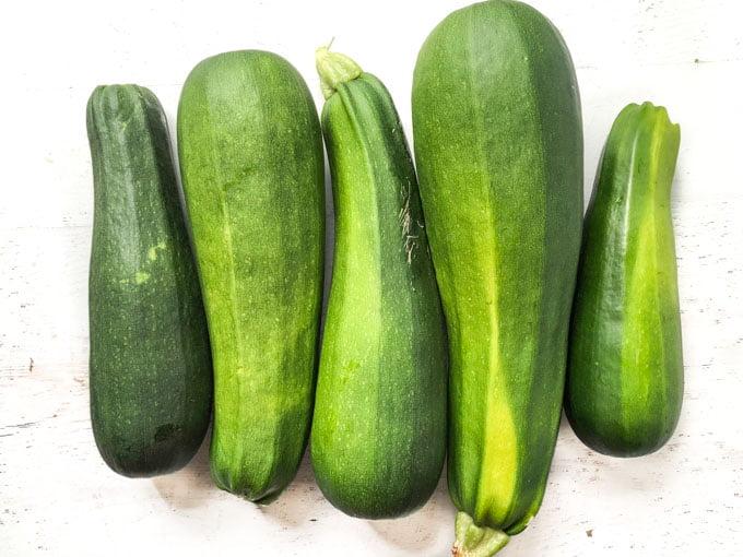 5 garden zucchini