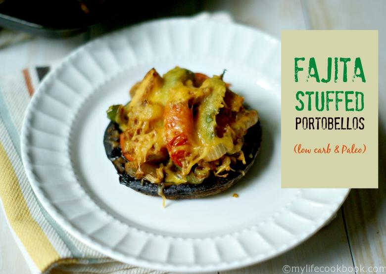 These fajita stuffed portobellos make for a delicious and easy low carb dinner.