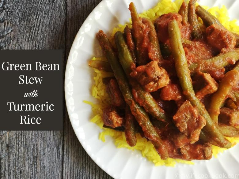 This green bean stew is perfect with fresh beans from the garden. The zesty garlic and tomato sauce is the perfect compliment to the green beans and beef cubes. Eat over rice for a delicious meal.