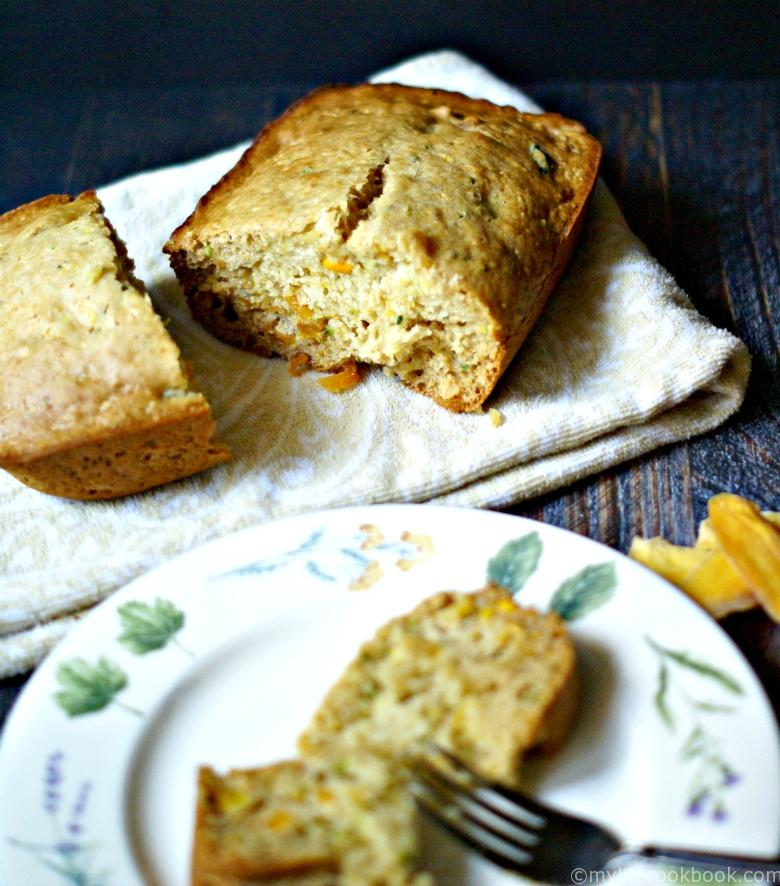 Honey Mango Zucchini Bread - My Life Cookbook