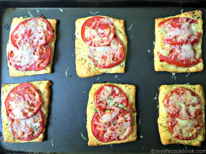 Using crescent rolls you can make these tomato tarts in just minutes. Tastes great when you use fresh garden tomatoes.