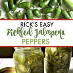 raw and pickled jalapenos with text overlay