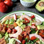 This is a simple and delicious salad using the flavor combination of a Bacon Lettuce and Tomato with Shrimp and Avocado. Low carb and Paleo too!