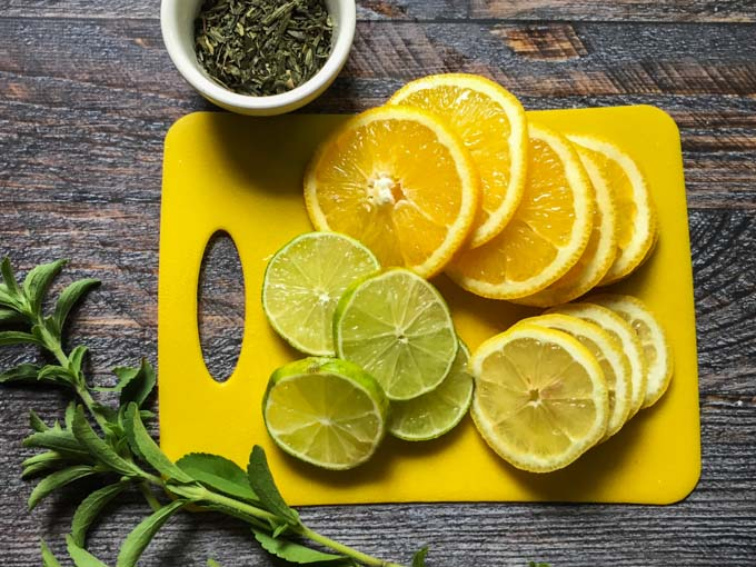 Quench your thirst with this naturally sweetened perpetual citrus green tea over and over again. Make it once and reuse the ingredients up to 4 times with great taste.