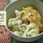This cheesy scalloped cauliflower dish is a great low carb substitute for potatoes. All the creamy, cheesy goodness without the carbs.