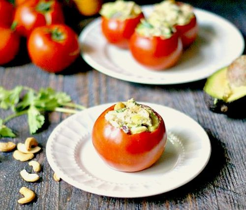 Tomatoes Stuffed With Curried Chicken Salad My Life Cookbook