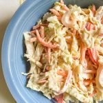 A quick and easy creamy southwestern coleslaw that is both Paleo and low carb. A delicious addition to your summer salads and picnic recipes!