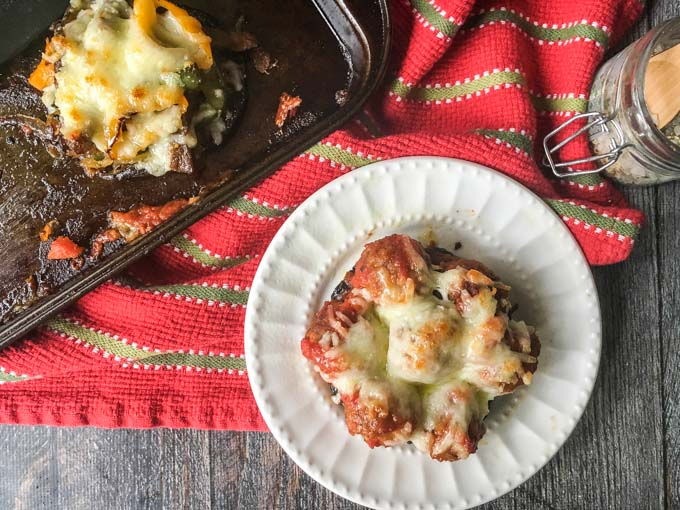 These stuffed portobellos are filled with all the flavor of a Philly cheese steak or meatball sub but with the carbs! A delicious low carb, gluten free lunch or dinner