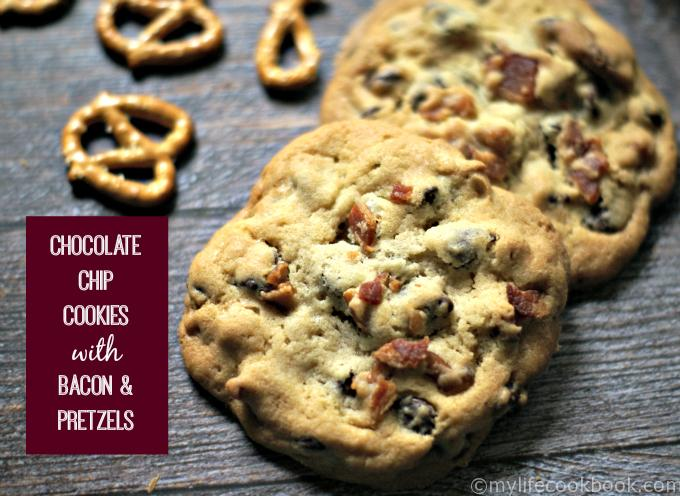 Not only are these bacon pretzel chocolate chip cookies the BEST chocolate chip cookies, but they have bacon and pretzel pieces too! I rest my case. ;)