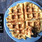 A tasty paleo hash brown made with celeriac and a waffle iron. Easy and delicious!