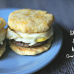 These low carb sausage & egg muffins use grain free muffins for a delicious breakfast on the go.