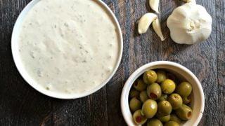 Mom's Green Olive & Garlic Veggie Dip