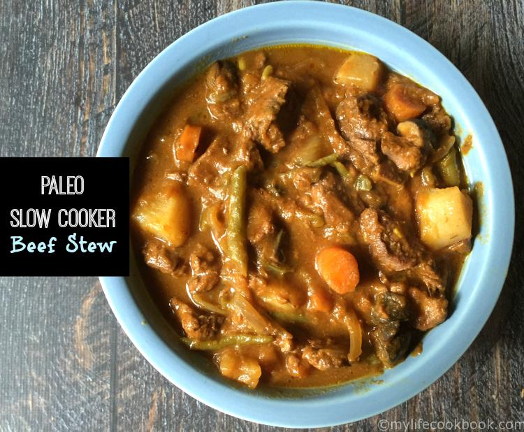 This Paleo slow cooker beef stew is so easy to make and tastes ...