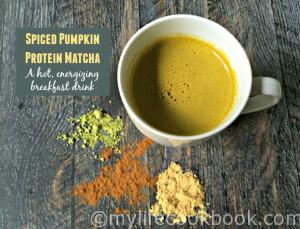 This spiced pumpkin protein matcha is the perfect energy drink to start your morning. Packed with protein and low in carb; an energizing boost with matcha.