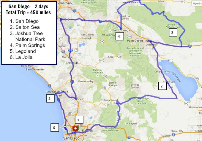 This is a 2 day trip around san diego including Joshua Tree National Park, Palm Springs and more.