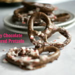 These chocolate covered pretzels make an easy homemade Christmas gift. Everyone loves chocolate covered pretzels!