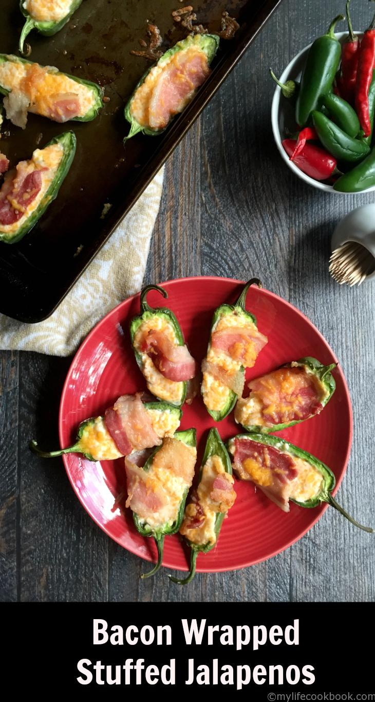 These Bacon Wrapped Cheese Stuffed Jalape�os Are A Delicious Low Carb And  Paleo Appetizer Or Snack