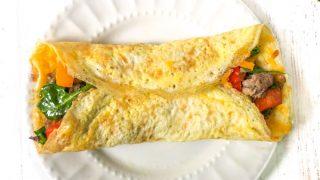 Freezable Low Carb Breakfast Burrito Recipe - keto breakfast on the go!