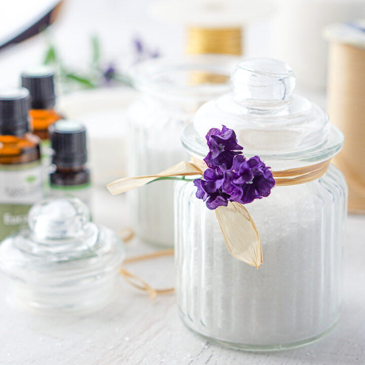 Bath Salts for Sore Muscles using Essential Oils