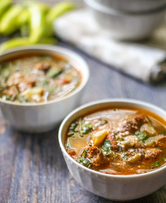 If you like stuffed banana peppers you will love this sausage & peppers soup! It's so easy to make and VERY flavorful. A tasty, warming low carb and Paleo soup. Only 5.3g net carbs per serving!