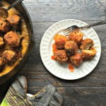 These tasty buffalo chicken meatballs have a surprise in the middle - blue cheese! Using almond flour these are both gluten free and low carb. Great appetizer!