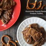 Chocolate peanut butter pretzel toffee has it all: salty, sweet, chocolate, crunch and peanut butter! Plus it's super easy to make and is a delicious gift to give.