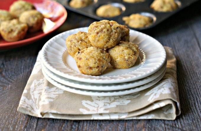 These delicious low carb sausage & cheese muffins make the perfect snack, breakfast or even appetizer. Easy to make and taste like a sausage and cheese pizza and only 1g net carbs per muffin.