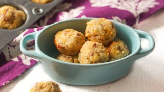 Mini Low Carb Sausage & Cheese Muffins