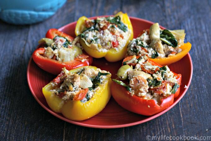 Greek Chicken Stuffed Peppers
