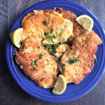 These lemon Romano pork cutlets are easy to make and deliciously low carb. The perfect week night dinner.