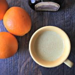 Enjoy the benefits of matcha tea in this tasty orange creamsicle protein drink. Low carb and delicious, a great way to start your morning.