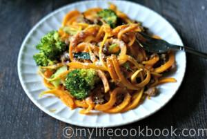 Butternut squash noodles are delicious, especially with Italian sausage and broccoli. A healthy, lower carb meal that you'll love.
