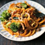 Butternut squash noodles are delicious, especially with Italian sausage and broccoli. A healthy, grain free meal that you'll love.