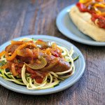 Slow cooker Italian sausage and peppers is an easy and versatile dish. Eat it on a bun or over pasta. Or for lower carbs eat as is or over zucchini noodles.