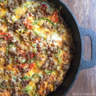 This low carb breakfast pizza would be great for breakfast, lunch or dinner. Easy and tasty meal. Only 2.1g net carbs!