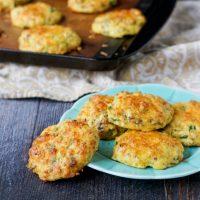 Healthy Savory Breakfast Cookies - freezable low carb breakfast!
