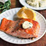 This salmon with lemon herb butter dish is an easy and a tasty fish dinner.