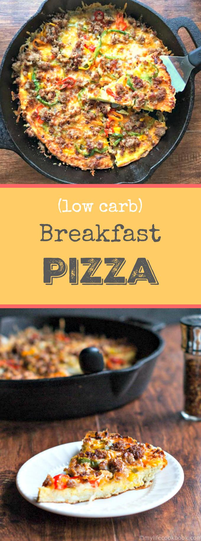Low Carb Breakfast Pizza - eat for breakfast, lunch or dinner!