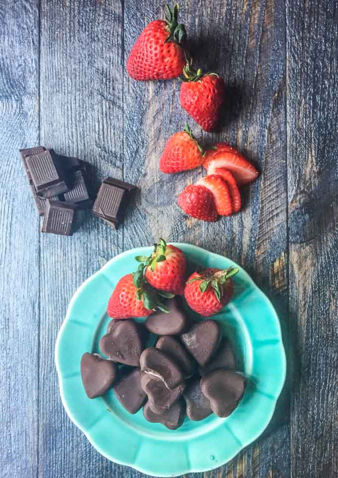 These low carb chocolate strawberry treats take only minutes to make. Keep a stash in your freezer for a quick and healthy treat.