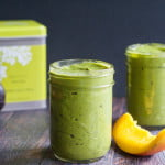 This mango matcha green smoothie is thick and delicious and good for your too. Healthy greens and the boost of matcha green tea make this a great breakfast choice.