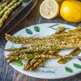 This lemon Parmesan asparagus recipe is perfect for Spring. An easy, tasty, healthy side dish with only 2.4g net carbs per serving!