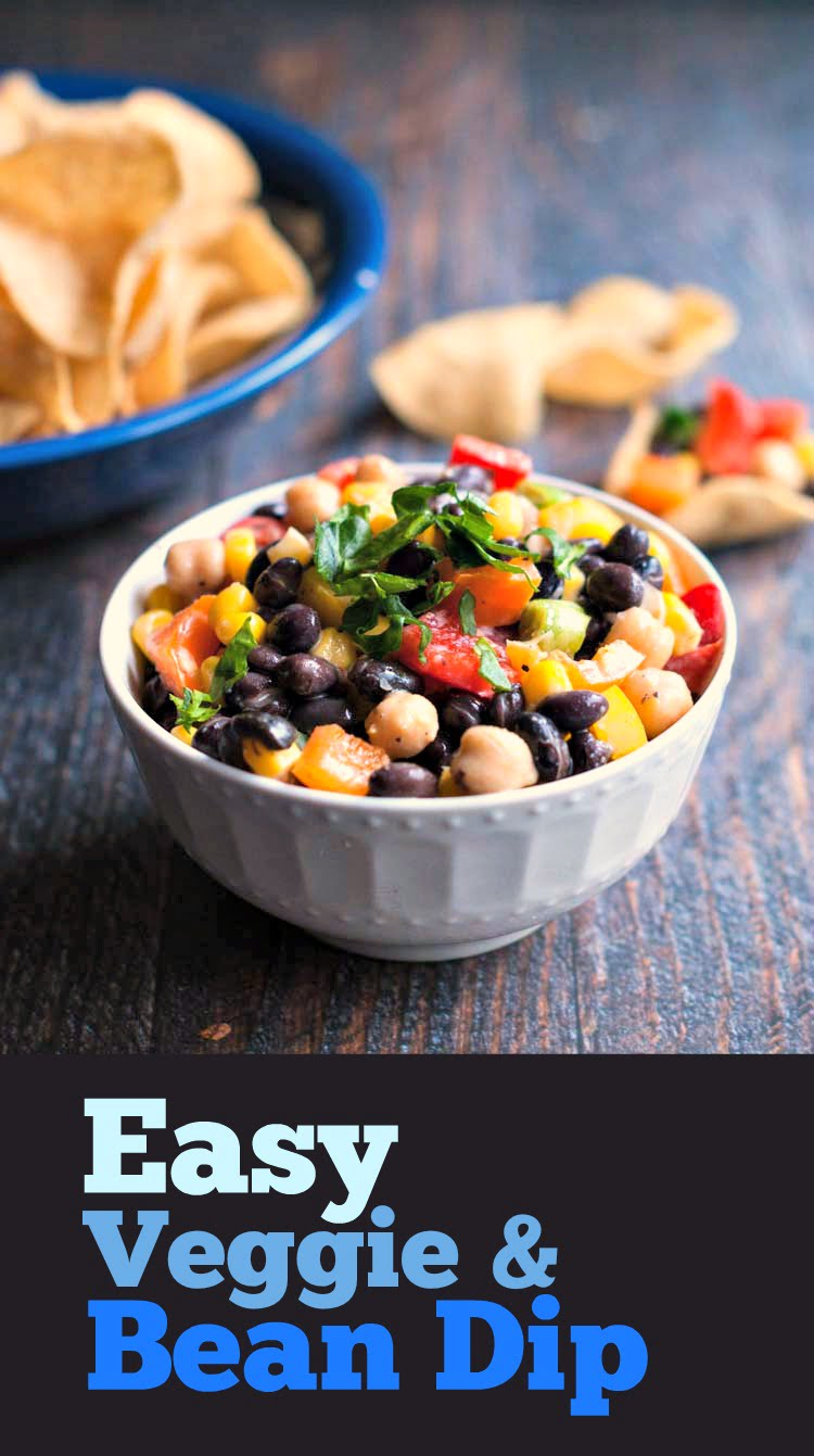 This easy veggie and bean dip is a colorful and tasty dish to make for your next party.