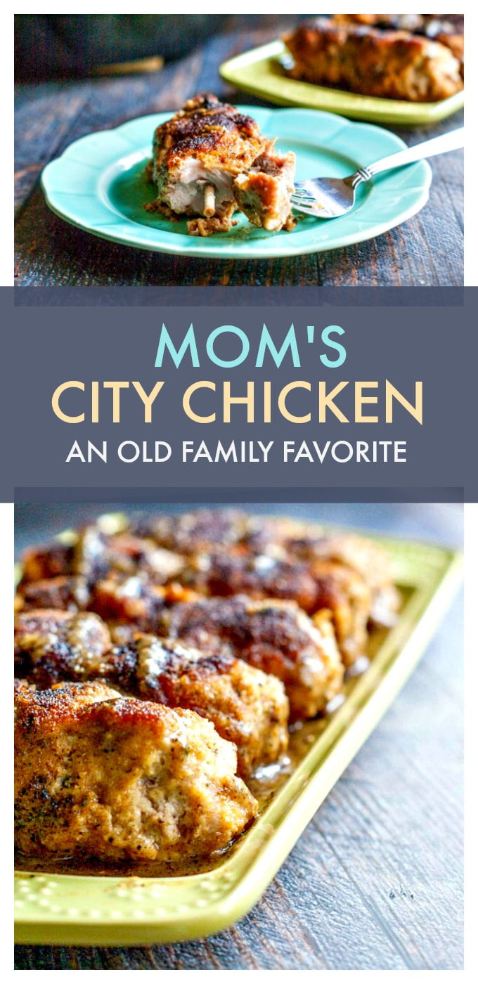 My mom's city chicken was a family favorite growing up. It's an easy to make weeknight meal. #SundaySupper