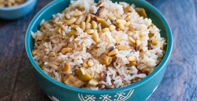 Olive & Date Rice Side Dish #SundaySupper