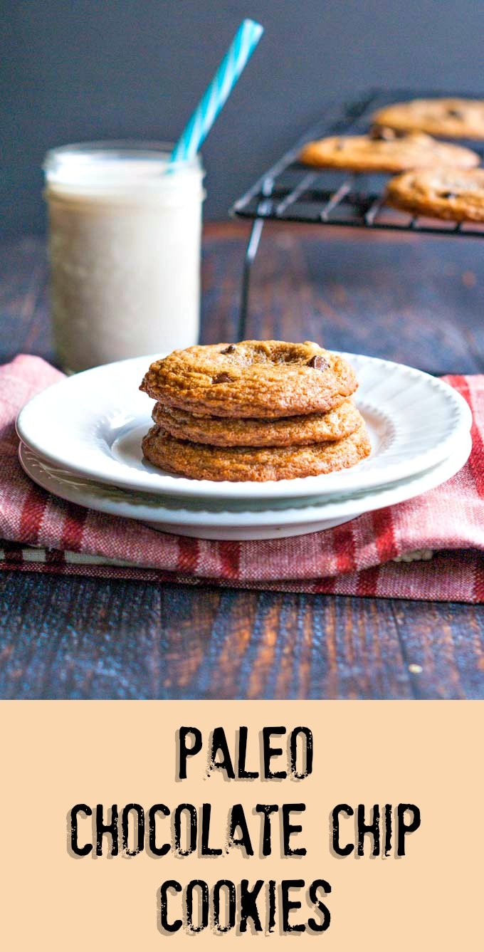 These Paleo Chocolate Chip Cookies are not only delicious, they are very easy to make. A gluten free, healthy treat you can feel good about. #ditchthewheat