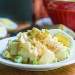 This turnip fauxtato salad is a great low carb alternative to potato salad (3.5g net carbs). Even if you don't care about carbs, it's a delicious way to eat turnips!