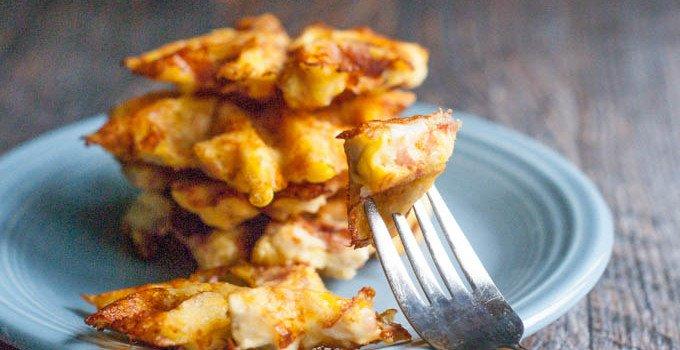 Chicken Ham & Swiss Waffles (low carb)