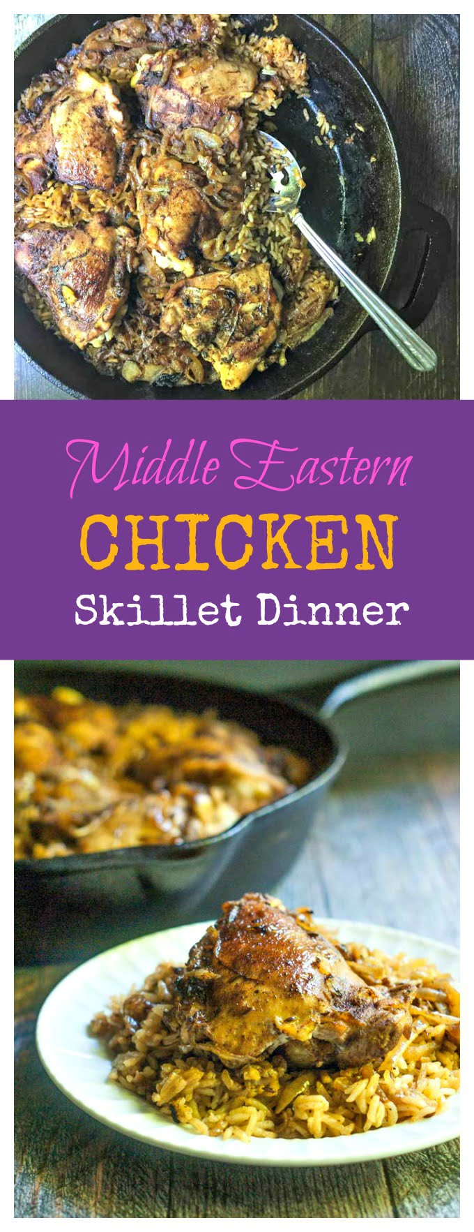 Moroccan chicken pin1g this middle eastern chicken skillet dinner is an easy dinner with a deliciously unique taste forumfinder Image collections